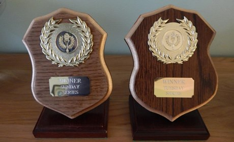 Monthly trophies for both Tuesday and Sunday racing